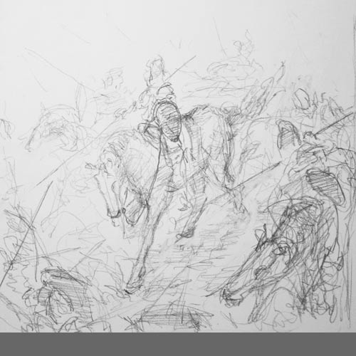 cavalry charge sketch